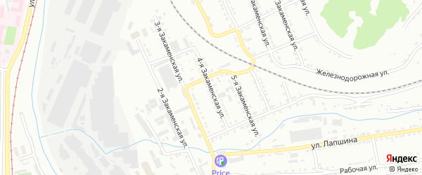 Закаменская 4-я улица на карте Златоуста с номерами домов