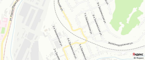 Закаменская 5-я улица на карте Златоуста с номерами домов