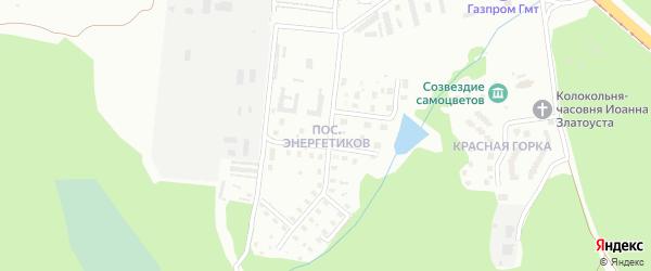 Улица Энергетиков на карте поселка Тундуша с номерами домов