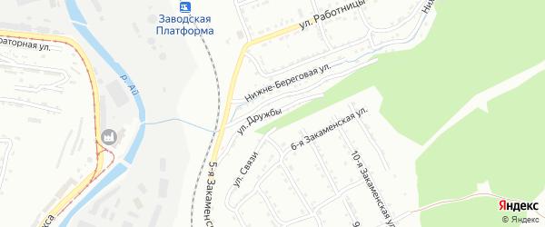 Улица Братства на карте Златоуста с номерами домов