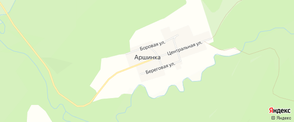 Карта села Аршинки в Челябинской области с улицами и номерами домов