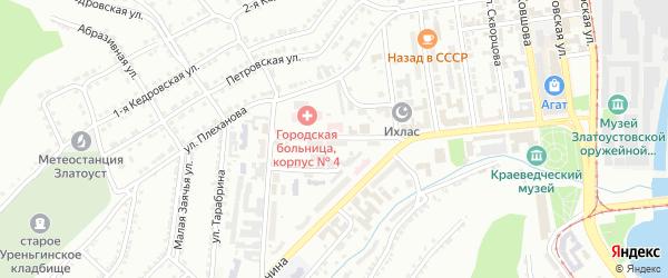 Улица им И.Н.Бушуева на карте Златоуста с номерами домов