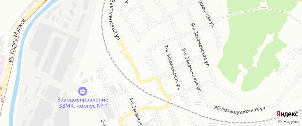 Закаменская 6-я улица на карте Златоуста с номерами домов