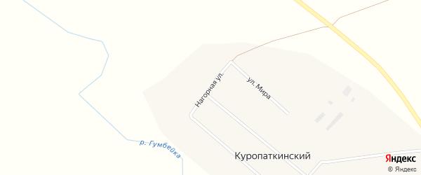 Нагорная улица на карте Куропаткинского поселка с номерами домов