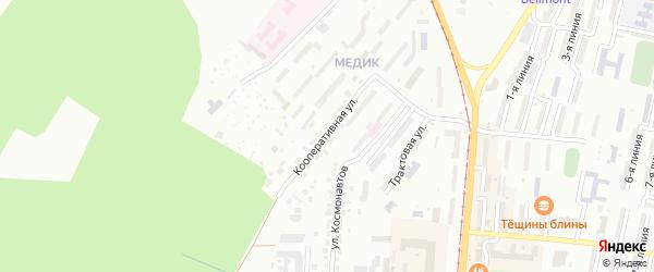 Кооперативная улица на карте Златоуста с номерами домов