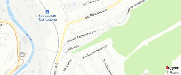 Нижне-Береговая улица на карте Златоуста с номерами домов