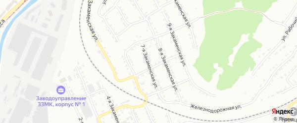 Закаменская 7-я улица на карте Златоуста с номерами домов