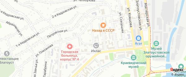 Улица им М.А.Аникеева на карте Златоуста с номерами домов