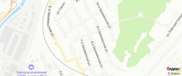Закаменская 8-я улица на карте Златоуста с номерами домов