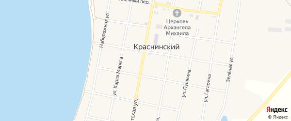 Советская улица на карте Краснинского поселка с номерами домов