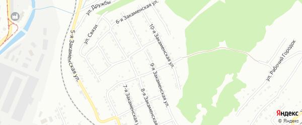 Закаменская 9-я улица на карте Златоуста с номерами домов