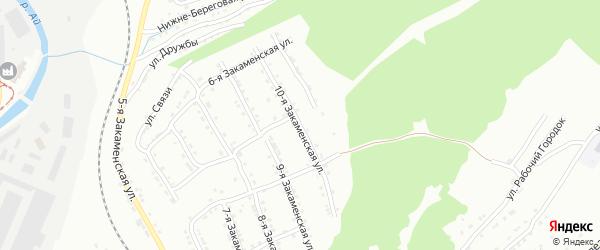 Закаменская 10-я улица на карте Златоуста с номерами домов