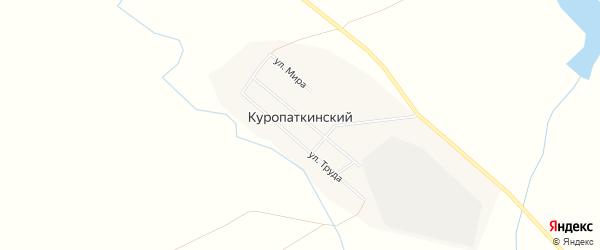 Карта Куропаткинского поселка в Челябинской области с улицами и номерами домов