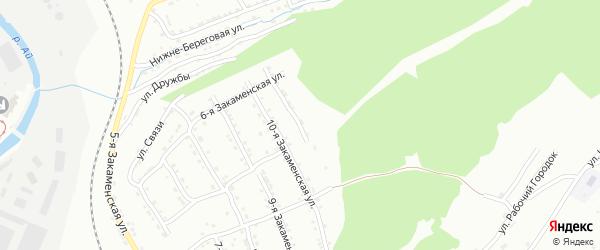 Закаменская 11-я улица на карте Златоуста с номерами домов
