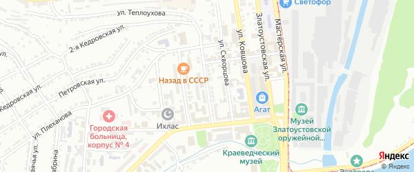 Косотурская улица на карте Златоуста с номерами домов