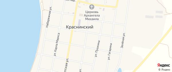 Школьная улица на карте Краснинского поселка с номерами домов