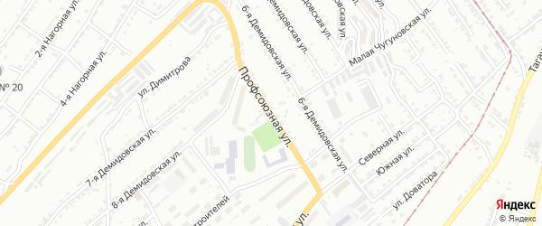 Профсоюзная улица на карте села Куваши с номерами домов