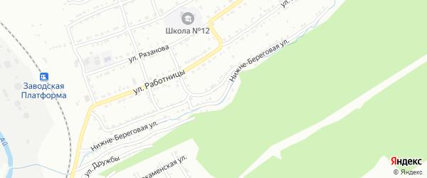 Речная улица на карте села Веселовки с номерами домов