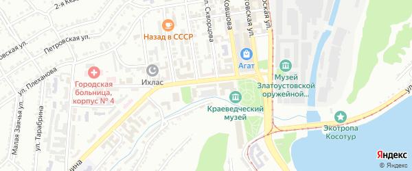 СНТ Завода им Ленина-3А на карте Златоуста с номерами домов