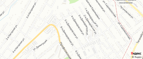 Демидовская 5-я улица на карте Златоуста с номерами домов