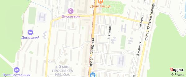 Проспект им Ю.А.Гагарина 3-й мкр на карте Златоуста с номерами домов