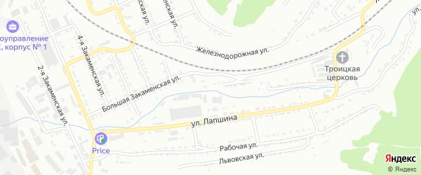 Улица Большая Тесьма на карте Златоуста с номерами домов