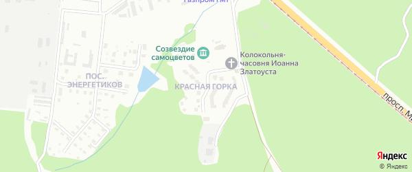 Поселок Красная Горка на карте Златоуста с номерами домов