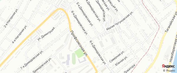 Демидовская 6-я улица на карте Златоуста с номерами домов
