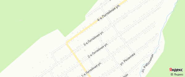 Литейная 3-я улица на карте Златоуста с номерами домов