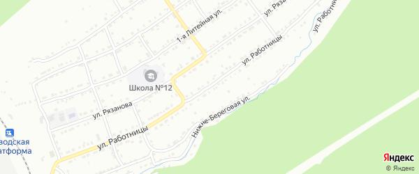 Улица Работницы на карте Златоуста с номерами домов