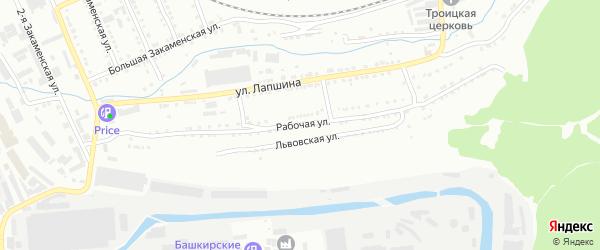 Рабочая улица на карте Златоуста с номерами домов