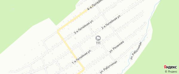 Литейная 2-я улица на карте Златоуста с номерами домов