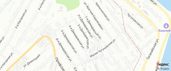 Демидовская 3-я улица на карте Златоуста с номерами домов