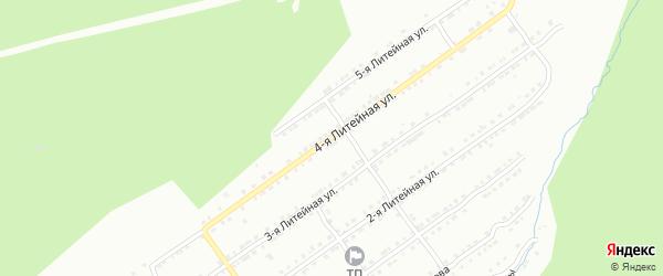 Литейная 4-я улица на карте Златоуста с номерами домов