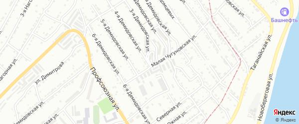 Квартал Демидовка на карте Златоуста с номерами домов