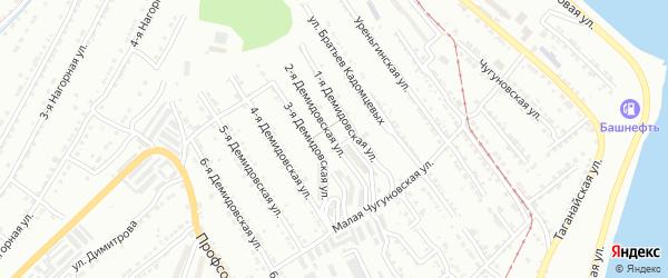 Демидовская 2-я улица на карте Златоуста с номерами домов