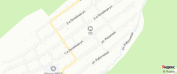 Литейная 1-я улица на карте Златоуста с номерами домов