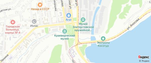 Площадь 3 Интернационала на карте Златоуста с номерами домов