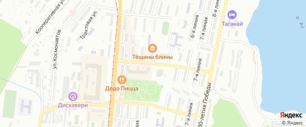 Проспект им Ю.А.Гагарина 4-я линия на карте Златоуста с номерами домов