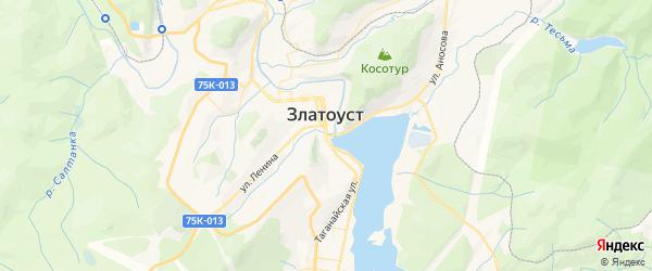 Карта Златоуста с районами, улицами и номерами домов