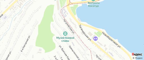 Малая Чугуновская улица на карте Златоуста с номерами домов