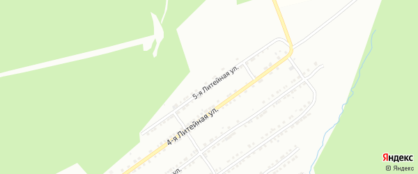 Литейная 5-я улица на карте Златоуста с номерами домов