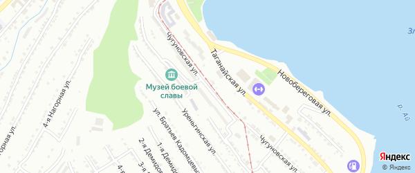 Чугуновская улица на карте Златоуста с номерами домов