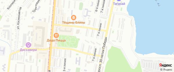 Нагорная 5-я улица на карте Златоуста с номерами домов