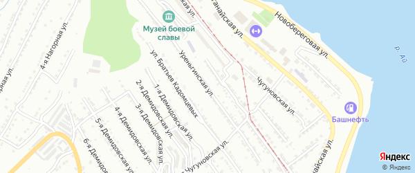 Уреньгинская улица на карте Златоуста с номерами домов