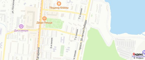 Проспект им Ю.А.Гагарина 6-я линия на карте Златоуста с номерами домов
