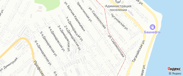 Улица им Братьев Кадомцевых на карте Златоуста с номерами домов