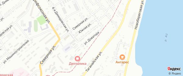Улица им Л.М.Доватора на карте Златоуста с номерами домов
