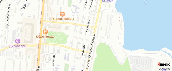 Проспект им Ю.А.Гагарина 7-я линия на карте Златоуста с номерами домов