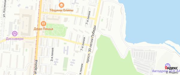 Проспект им Ю.А.Гагарина 8-я линия на карте Златоуста с номерами домов